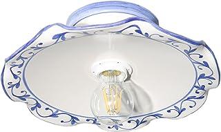 VANNI LAMPADARI - Lampada Da Soffitto o Parete Piatto onda piegato Diametro 30 In Ceramica Decorata A Mano Disponibile In ...