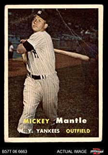 1957 Topps # 95 Mickey Mantle New York Yankees (Baseball Card) Dean's Cards 2 - GOOD Yankees