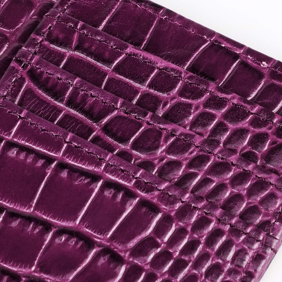 Pocket Front Holder Card Credit Leather Blocking RFID Wallet ...
