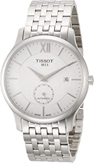 Mens Tradition Swiss Automatic Stainless Steel Dress Watch (Model: T0634281103800)
