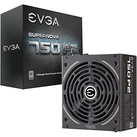 EVGA SuperNOVA 750 P2, 80+ PLATINUM 750W , Fully Modular , EVGA ECO Mode, 10 Year Warranty , Includes FREE Power On Self Tester, Power Supply 220-P2-0750-X1,Black