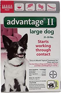 Bayer Advantage II, Large Dogs, 21 to 55Pound, 6Month