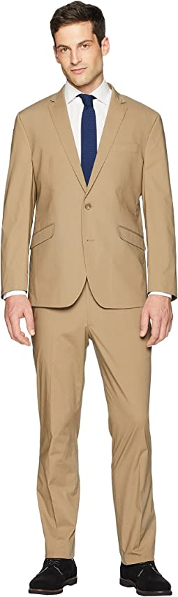 "Stretch Slim Fit Lightweight Suit with 32"" Finished Bottom"