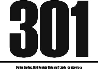 Bid Card - 301-400 (8.5-x-11-inch)