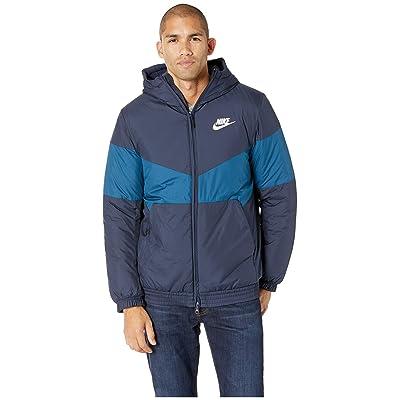 Nike NSW Synthetic Fill Jacket Hoodie (Obsidian/Blue Force/Obsidian/Sail) Men