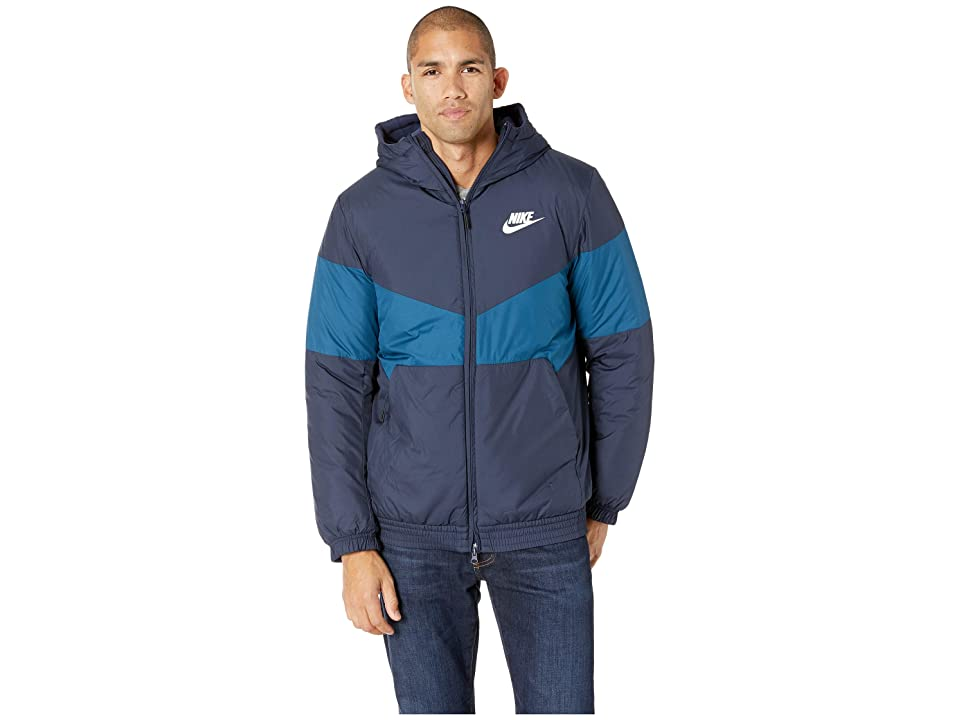 Nike NSW Synthetic Fill Jacket Hoodie (Obsidian/Blue Force/Obsidian/Sail) Men