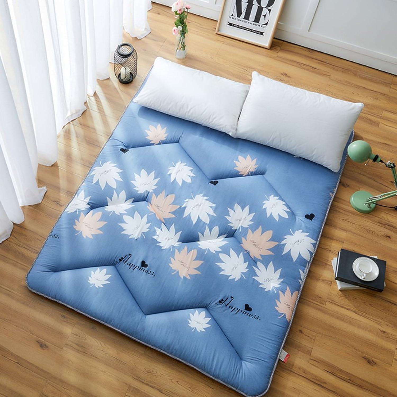 Thickened Single Bed Mat,Folding Floor Mat Sleeping Mat Student Dormitory Double Tatami 1.5m Bed Floor Mat Portable Sleeping Pad-C 100x200cm(39x79inch)