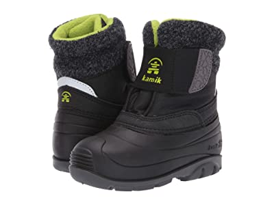 Kamik Kids Wren (Toddler) (Black/Lime) Kids Shoes