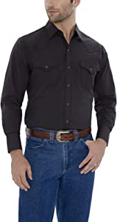 ELY CATTLEMAN Men's Long Sleeve Solid Western Shirt