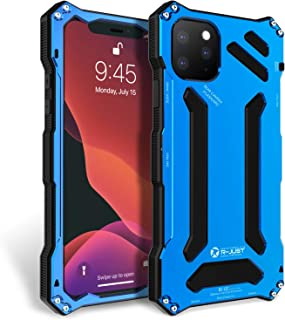 Bpowe iPhone 11 Pro Max Case,Gundam Aluminum Metal Premium Protection Hard Shockproof Military Bumper Heavy Duty Sturdy Protective Cover Case for iPhone 11 Pro Max (Blue, iPhone 11 Pro Max 6.5