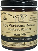 Malicious Women Candle Co - Ugly Christmas Sweater Contest Winner, Bad Santa (Eggnog) Infused with No Shame…Like None, All-Natural Organic Soy Candle, 9 oz