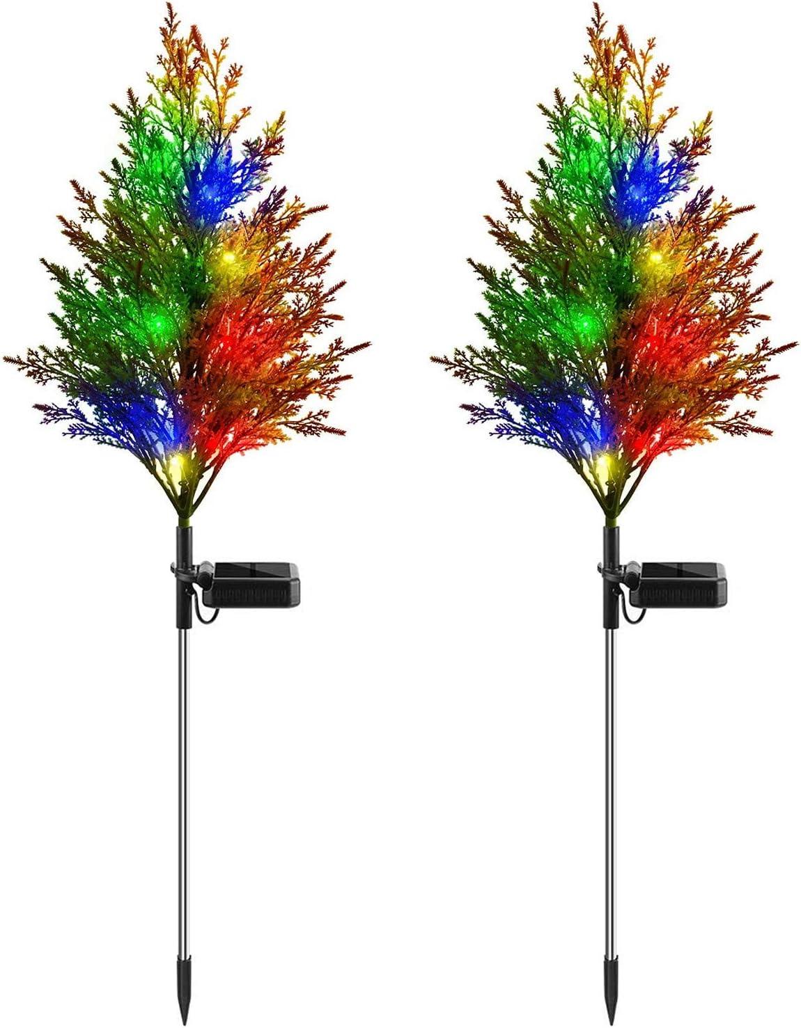 iRonrain Solar Garden Lights Pine Modes Tree Christmas Popular brand discount 2