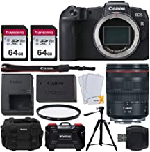 Canon EOS RP Mirrorless Digital Camera + RF 24-105mm f/4L is USM Lens + 2X 64GB Memory Card + Photo4less DC59 Camera Case + 57 Inch Camera/Video Tripod + 77mm UV Filter + Vivitar Hardcase (24 Slots)
