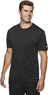 HEAD Men's Ultra Hypertek Crewneck Gym Training & Workout T-Shirt - Short Sleeve Activewear Top - Ultra Black Heather, Small