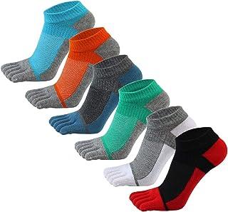 Calcetines Cortos con Cinco Dedos de Malla Respirable Calcetines Deportivos de Algodón para Corre Baloncesto Fútbol