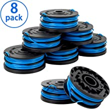 X Home Weed Eater String Spools Compatible with Greenworks G-max 40V Trimmer 2900719 2101602 2101602A Cordless Edger Replacement Spool Refills Parts, 2 x 10ft 0.065 inch Dual Line (8 Pack)