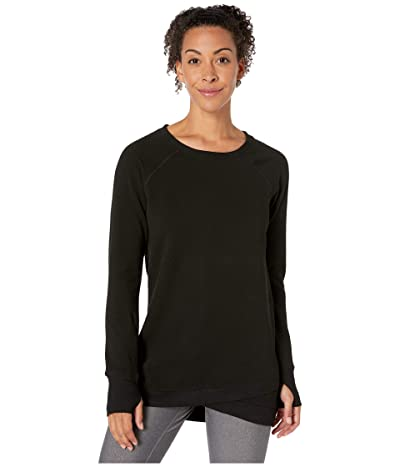 Jockey Active R R Crisscross Fleece Tunic (Deep Black Solid) Women