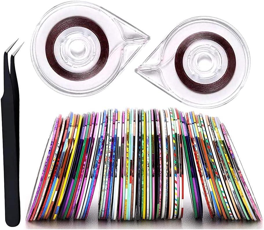 FULINJOY 67PCS Nail Art Striping Tape 2021 100% quality warranty! model Set Lines Rol Includes 64
