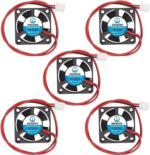 WINSINN Ventilateur de refroidissement brushless 301012/24V CC - Ventilateur 30x 30x 10mm à monter soi-même - Po...