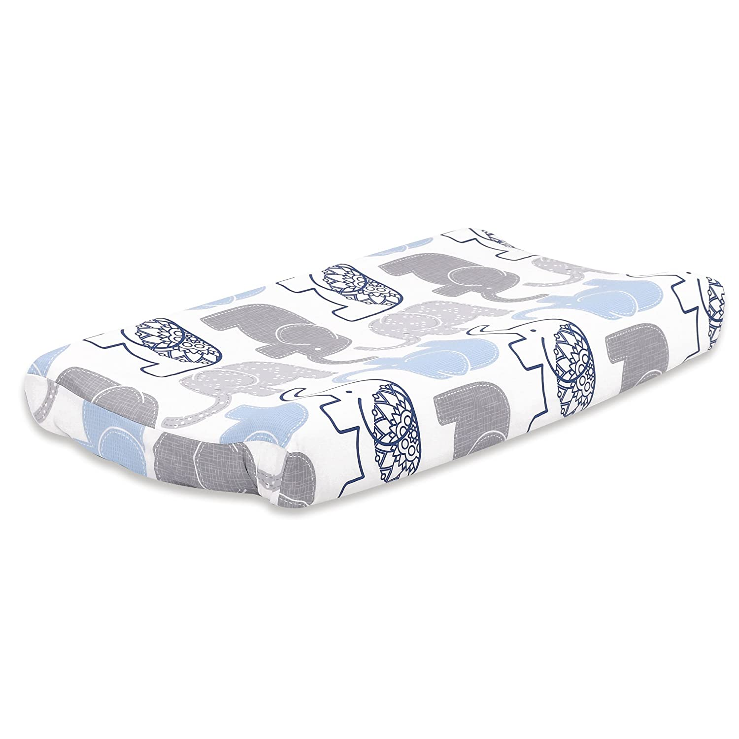 Little Peanut Grey and Blue Detroit Mall Elephant Pad Baby Changing Latest item by Cover