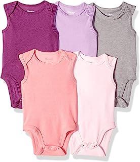 Hanes Ultimate Baby Flexy 5 Pack Sleeveless Bodysuits (Tanks)