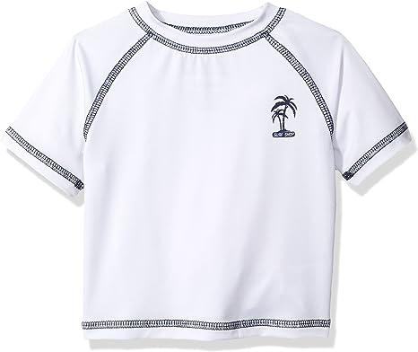 iXtreme Boys Baby Palm Tree Infant Rash Guard 24M White