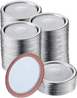 150 Pcs Mason Jar Lids,Regular Mouth Canning Lids Lids for Mason Jar Canning Lids,Aluminum Lids For Mason Jar Regular Mout...