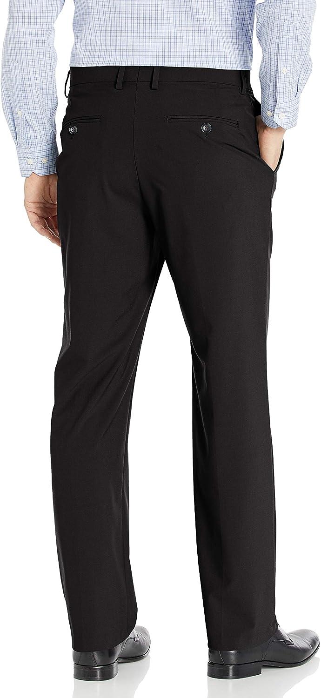 Haggar Mens Solid Stretch Classic Fit Flat Front Dress Pant Dress Pants J.M