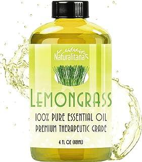 Best Lemongrass Essential Oil (4oz Bulk Lemongrass Oil) Aromatherapy Lemongrass Essential Oil for Diffuser, Soap, Bath Bom...