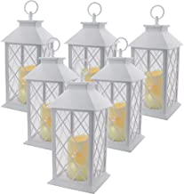 """YAKii 13"""" Decorative Candle Lantern with LED Flameless Candle and Timer, Plastic LED Candle & Holder, Indoor & Outdoor Han..."""
