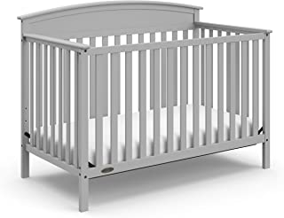 Storkcraft Graco Benton 4-in-1 Convertible Crib | Crib/Toddler bed/Daybed/full-size bed | 04530-21F model | Pebble Gray color