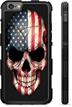 407Case Fits iPhone 6 & iPhone 6s American Flag Skull Hyper Shock Protective Rubber TPU Phone Case (iPhone 6/6s)