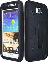 Bastex BasTexWireless 2in1 Hybrid Case for Samsung Galaxy Note i9220/N7000 - Black Silicone with Hard Kickstand Shell