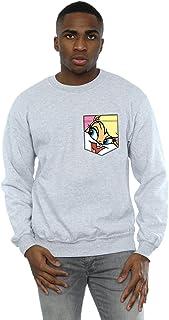 Looney Tunes Men's Lola Bunny Face Faux Pocket Sweatshirt