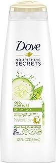 Dove Cool Moisture Shampoo, Cucumber & Green Tea 12 oz (Pack of 2)