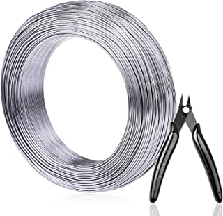 3 mm Soft and Flexible Metal Armature Wire for DIY Manual Arts and Crafts 65.6 Feet Silver Aluminum Craft Wire
