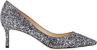 JIMMY CHOO Luxury Fashion Womens ROMY60ARGGUNMETALMIX Silver Pumps | Fall Winter 19