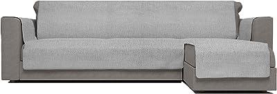 Italian Bed Linen Comfort Housse de canapé antidérapante avec méridienne Gris 190 cm