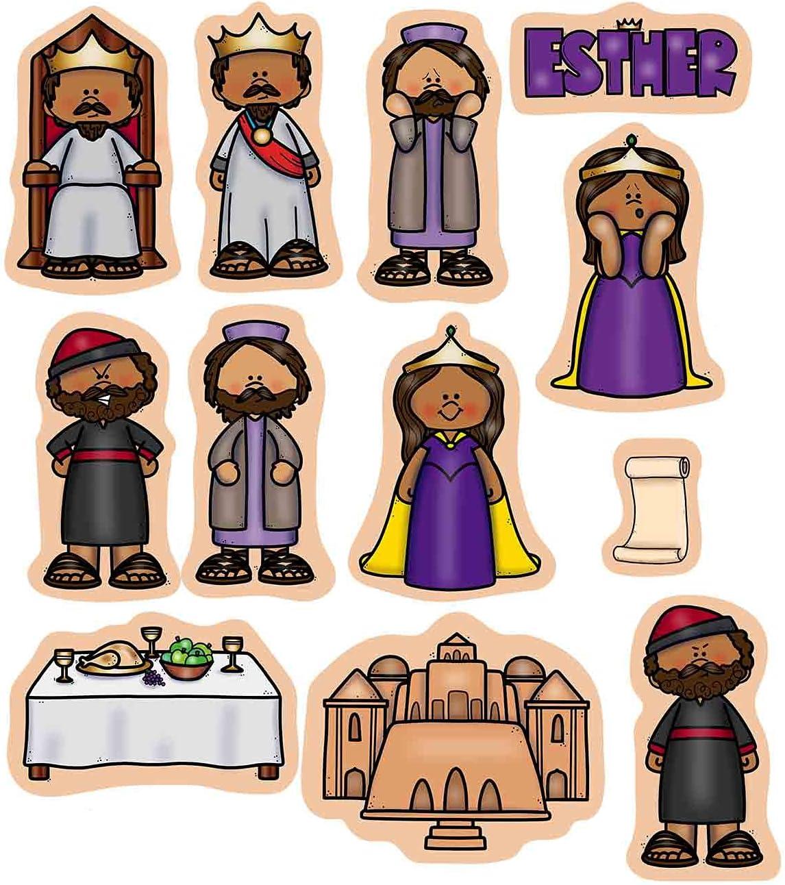 Esther outlet Felt Figures for Bible Flannel 12 OFFicial site Stories Board Precut Fi