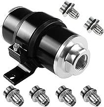 Billet Aluminum Inline Fuel/Gas/Petrol Filter+Bracket Cleanable 30 Micron for AN6 AN8 AN10 Black