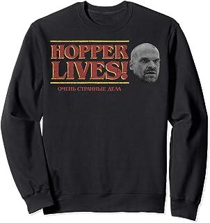 Netflix Stranger Things 4 Hopper Lives Left Portrait Logo Sweatshirt