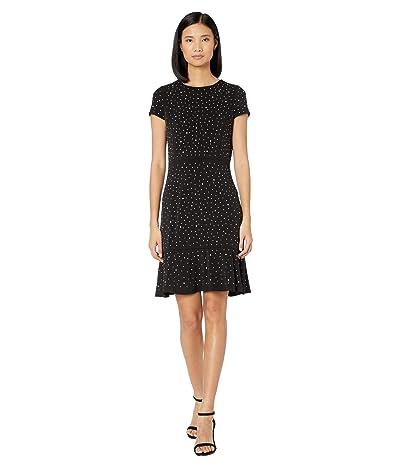 MICHAEL Michael Kors Flower Hem Top Flounce Dress (Black) Women