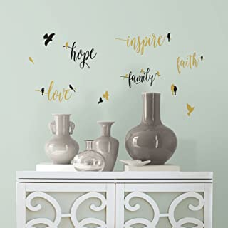 RoomMates Inspirational Words With Birds Peel And Stick Wall Decals