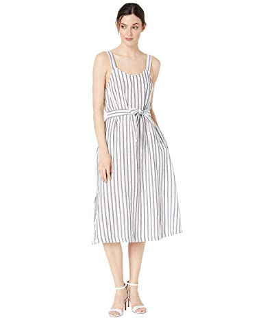 Three Dots Stripe/Dot Gauze Dress (Denim/Natural) Women