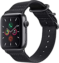 Fintie Band Compatible with Apple Watch 44mm 42mm Series 6 / 5 / 4 / 3 / 2/ 1 iWatch SE, Lightweight Breathable Woven Nylo...