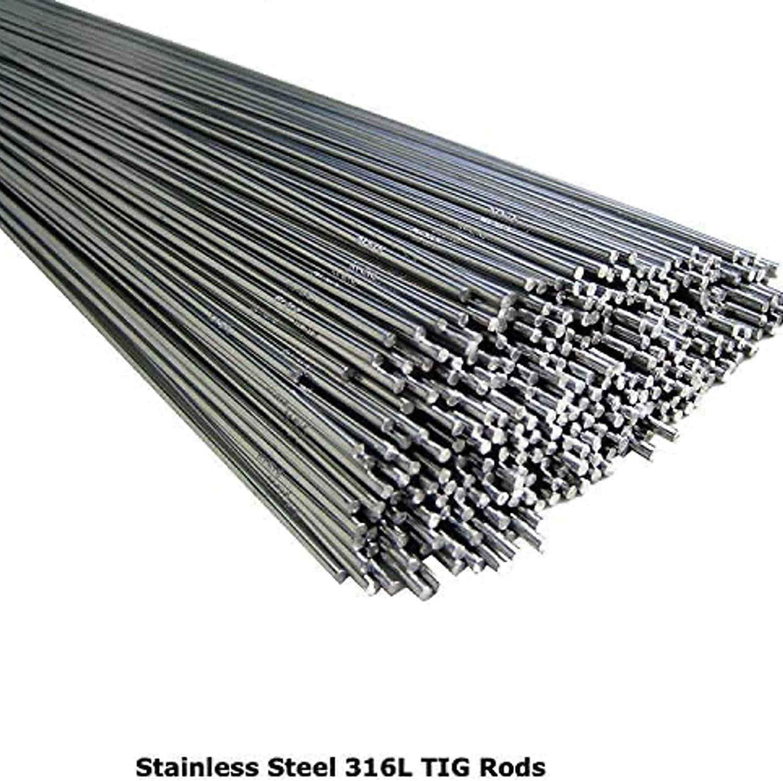 BMF DIRECT/® /Électrodes de soudage TIG en acier inoxydable 316L 1,0 mm 1,2 mm 1,6 mm 2,0 mm 2,4 mm 3,2 mm 3,2 mm