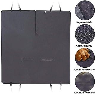DZL- Cubierta de Asiento para Perros Protector Perro Coche Asiento Impermeable Protector Antideslizante,Protecctor para Perros Mascotas Viajes Seguridad 129 * 127cm (Negro)