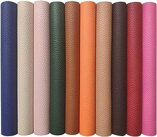 10枚 フェイクレザー 生地 人造革 シュリンクレザー レザークラフト 手芸材料 財布、革小物の作りに 33×22cm 10色セット