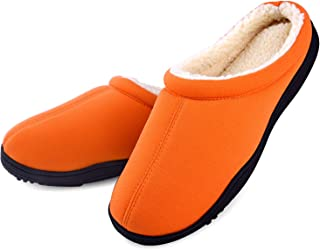 1988 Marco M.Kelly Men's Two-Tone Memory Foam Anti-Slip House Indoor/Outdoor Breathable Warm Suede Slippers Shoes