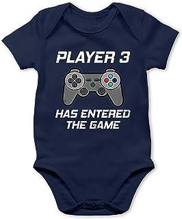 Shirtracer Zur Geburt - Player 3 Has Entered The Game Controller grau - Baby Body Kurzarm für Jungen und Mädchen